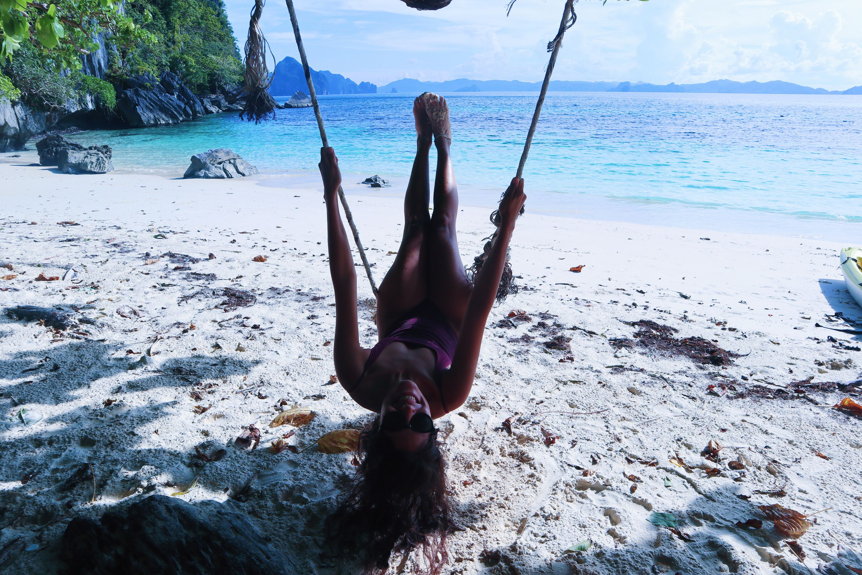swing happily at this heaven beach in Philippines. completely in love guys